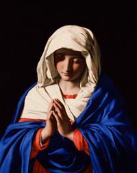 The Virgin in Prayer by Sassoferrato