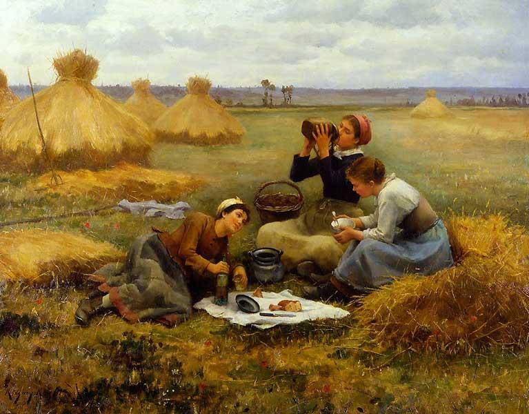 Breakfast in the Fields - Daniel Ridgway Knight - 1884
