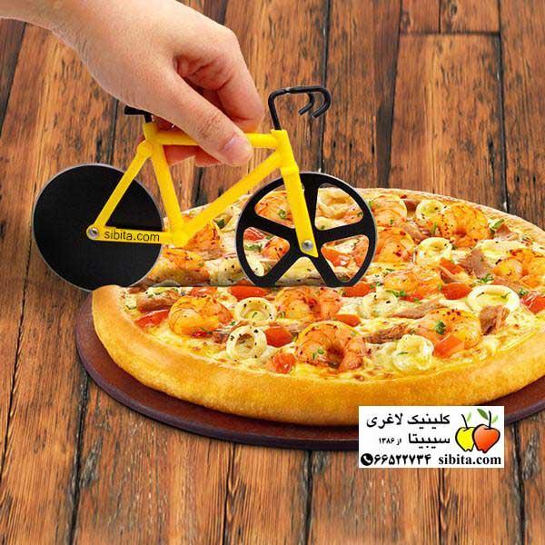 دوچرخه و پیتزا