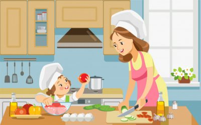 الگوی تغذیه سالم برای کودکتان باشید